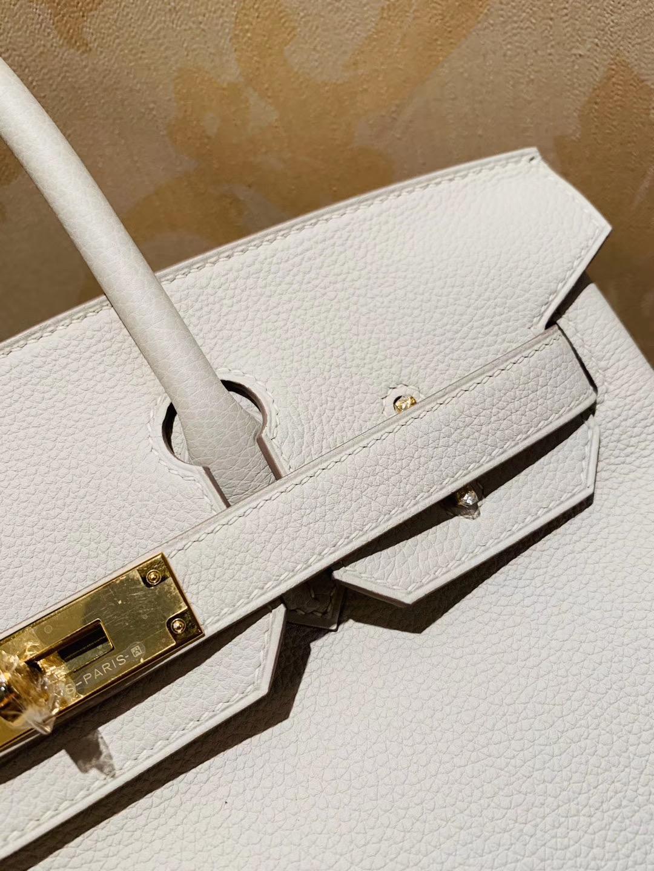极品工艺:Birkin 30 togo皮 10奶昔白craie 金扣 就是这个白富美  人气销量冠军