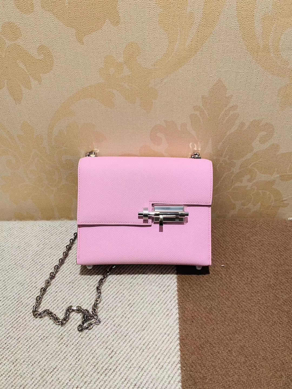 机关枪 叉烧包 Verrou 小号17cm X9锦葵紫 Epsom皮 银链,小仙女风 仙女级别的小姐姐最适合了